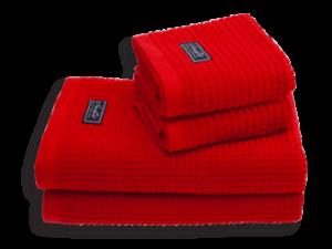 Fischer Island Håndklæde 2 stk 50x70 red - byHviid