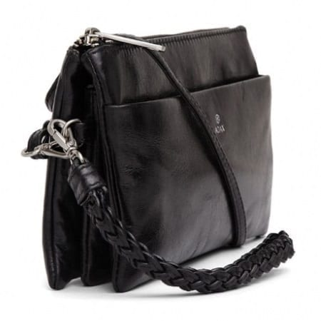 Adax NELLIE sort clutch cormorano fra siden