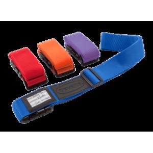 Stærk farvet bagagestrop fra Travelite til sikring af din kuffert under håndtering. Stroppen er justerbar op til max. 198 cm.