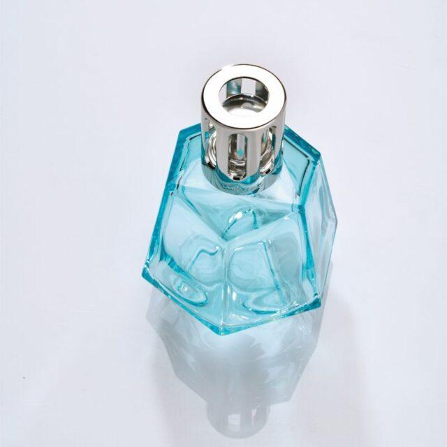 origami lysebla luftrenser duftlampe maison berger