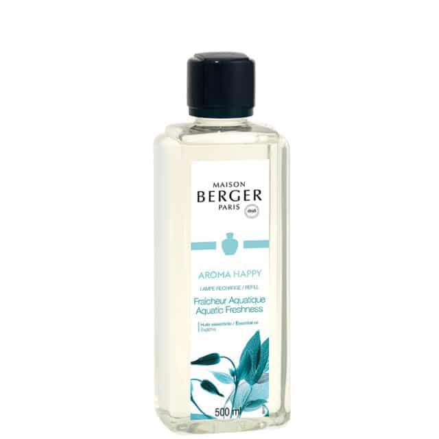 Aroma Happy Aquatic Freshness lampeolie refill til Maison Berger lamper - byHviid