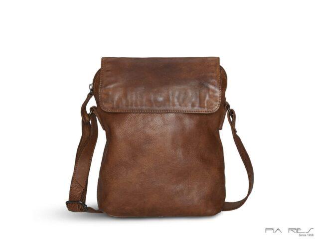 Pia Ries Cross Body taske i brunt kalveskind - ByHviid