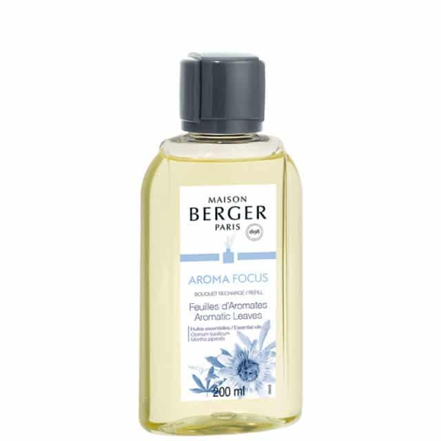 Aroma Focus Aromatic Leaves refill til duftpinde fra Maison Berger - byHviid