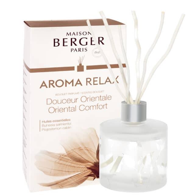 Aroma Relax Oriental Comfort flakon med duftpinde Bouquet fra Maison Berger - byHviid