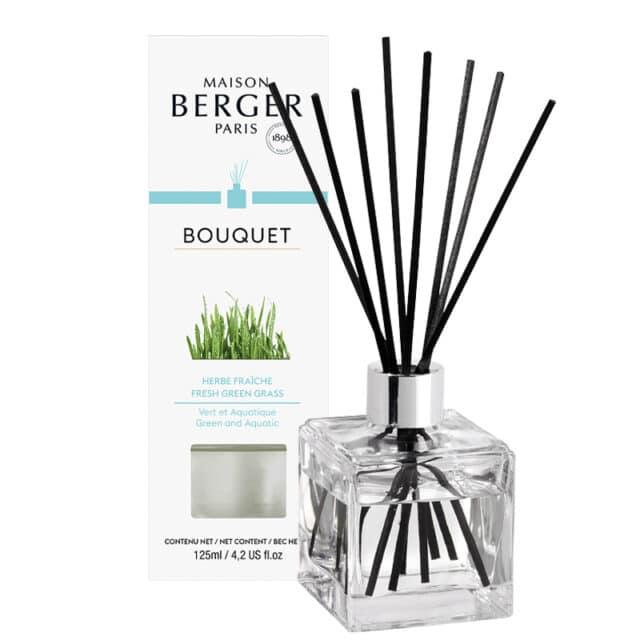 Fresh Green Grass Flakon m. Duftpinde Bouquet fra Maison Berger - byHviid