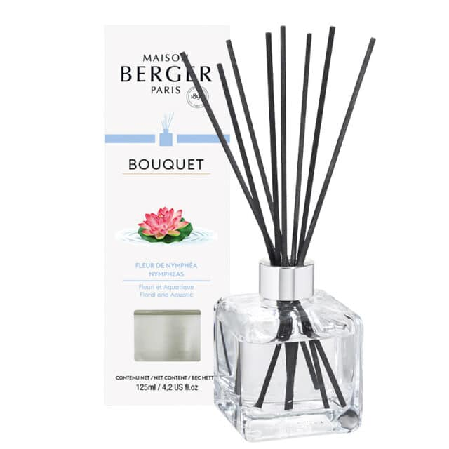 Nympheas Flakon m. Duftpinde Bouquet fra Maison Berger - byHviid