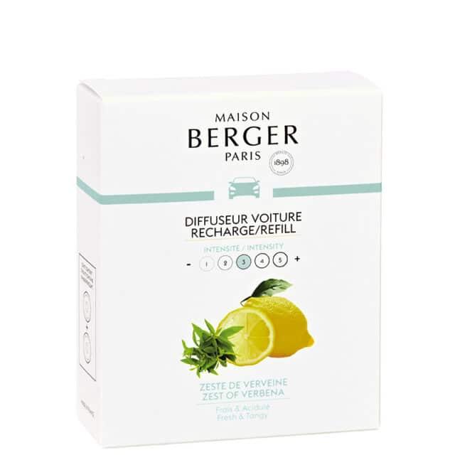 Zest of Verbena duft til bil refill - Maison Berger - byHviid